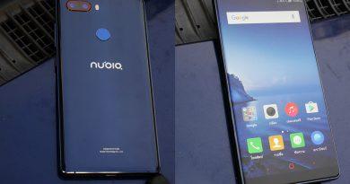 รีวิว Nubia Z17s blue